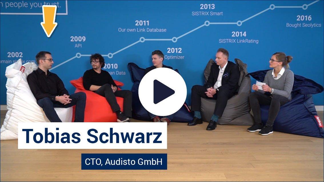 Tobias Schwarz at the Sistrix Expert Panel