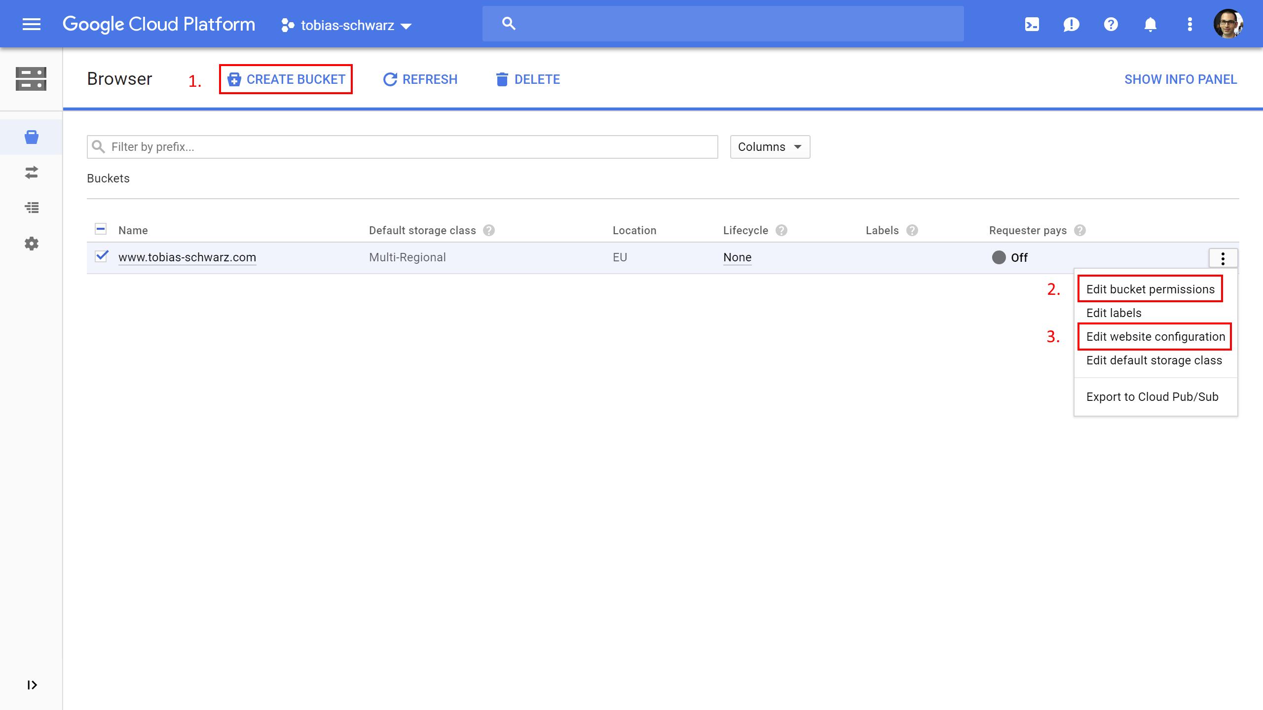 Google Cloud Space - Setup